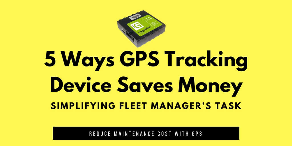GPS Tracking Device Saves Money