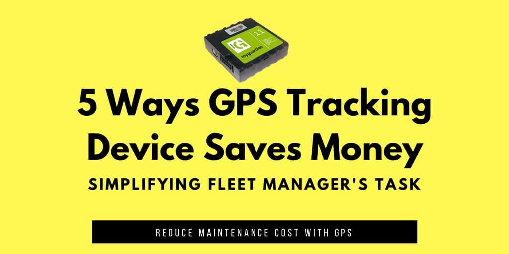 GPS Tracking Device Saves Money